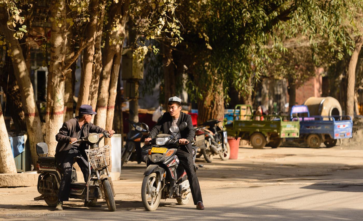 Фото 27. Два товарища. Экскурсия в Синьцзян-Уйгурском автономном районе. Путешествие по Китаю. 1/400, 2.8, 100, 150.