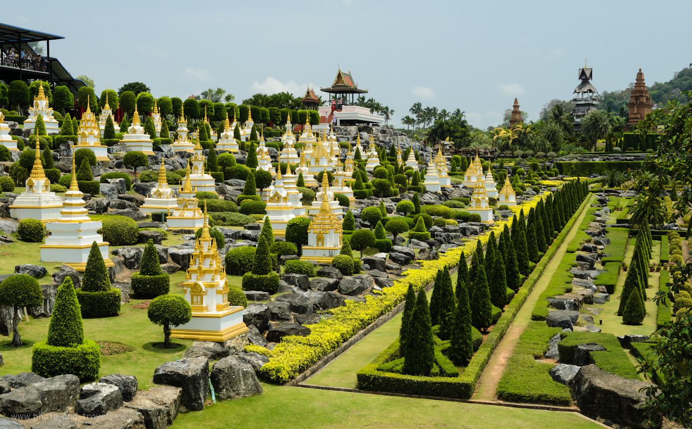 31. Строгие линии Французского парка в Нонг Нуч в Паттайе. В первой части отзыва о поезке в Таиланде во второй раз можно посмотреть карту движения тук-туков, чтобы поянть, как добраться в этот сад самостоятельно.