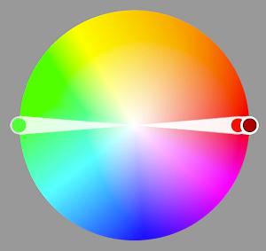 Фото 46. Цветовая гармония комплементарных цветов.