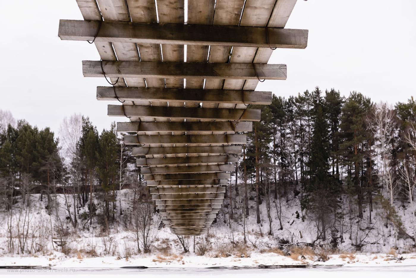 Фото 13. Подвесной мост в Сасыково. Как добраться к водопаду Плакун в Пермском крае.