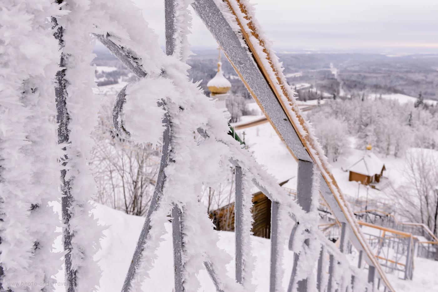 Фотография 25. Эх, без хорошего света не передать, как красивы кристаллы льда на Белой горе. 1/50, +1.33, 14.0, 900, 24.