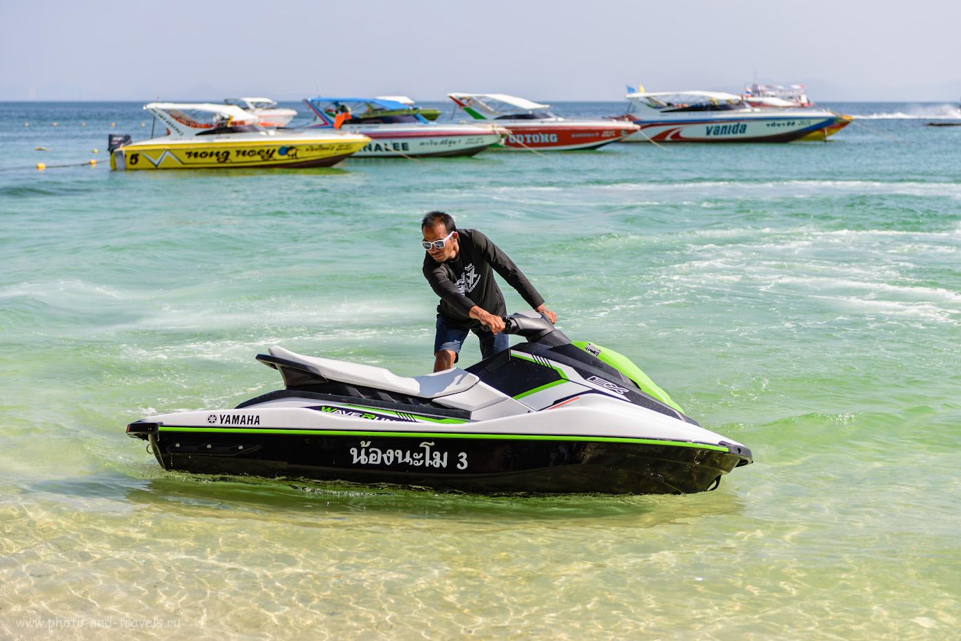 Фото 28. Очень частый развод туристов в Паттайе – «jet-skiing». Велика вероятность, что за катание на водном скутере придется заплатить больше, чем вы рассчитывали. 1/1250, +0.33, 3.2, 100, 62.