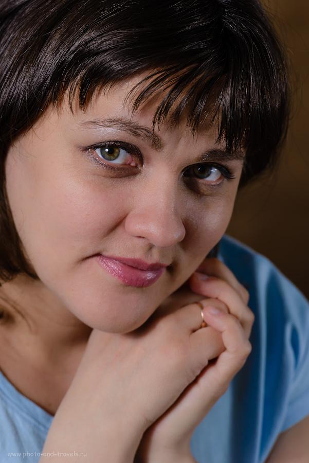 Фотография 14. Пример съемки женского портрета в домашней фотостудии с использованием двух вспышек YongnuoYN685N и радиосинхронизатора Yongnuo YN-622N-TX. Снято на полный кадр Nikon D610 + телеобъектив Nikon 70-200mm f/2.8G. 1/200, 7.1, 200, 200.