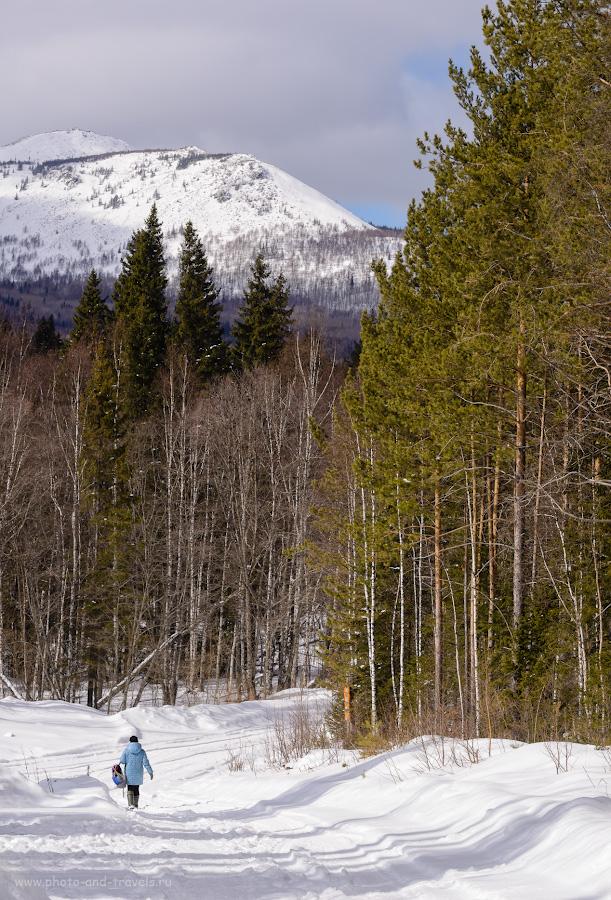 Фото 30. Виды у кордона «У трех вершин» в национальном парке «Зюраткуль». Гора Большой Уван. Не представляю, как на нее забираться зимой – с таким уклоном. А туристы ведь ходят… 1/1000, 11.0, 4.0, 400, 112.