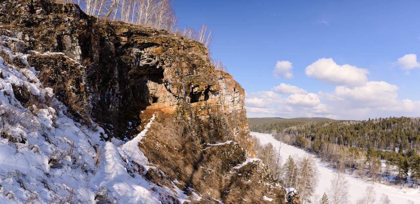 Фотография 36. Пещеру Идрисовскую так же называю Дворцом. Отчет о путешествии по Южному Уралу. Панорама из пяти вертикальных кадров, снятых с рук. 1/320, -0.67, 9.0, 400, 24.