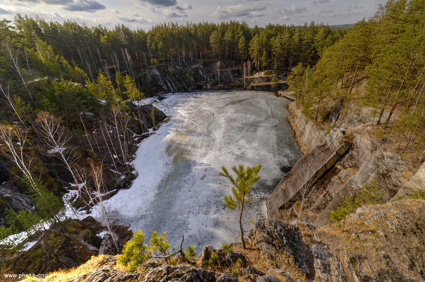Фотография 35. Вид на озеро Тальков камень с самой высокой точки. HDR из трех кадров. 1/200, 8.0, 100, 14.