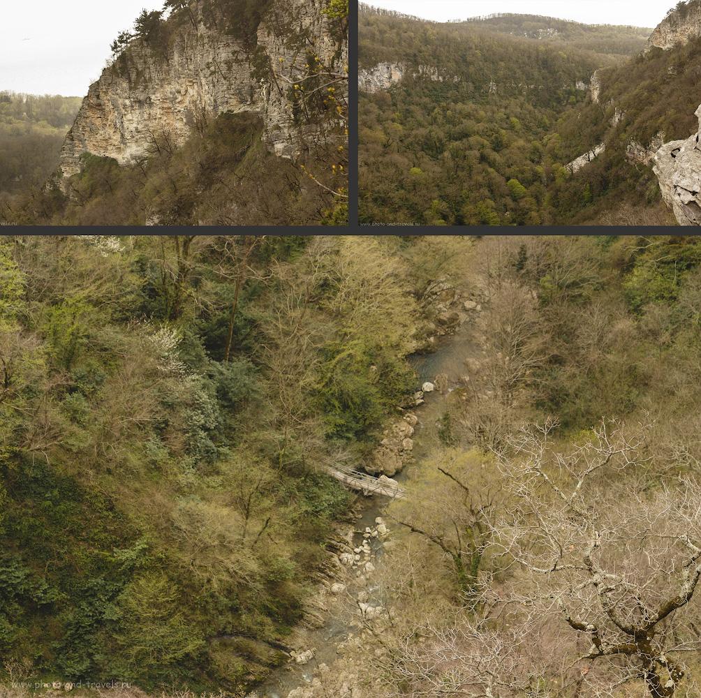 Снимок 19. Вид с Орлиных скал на Агурское ущелье.