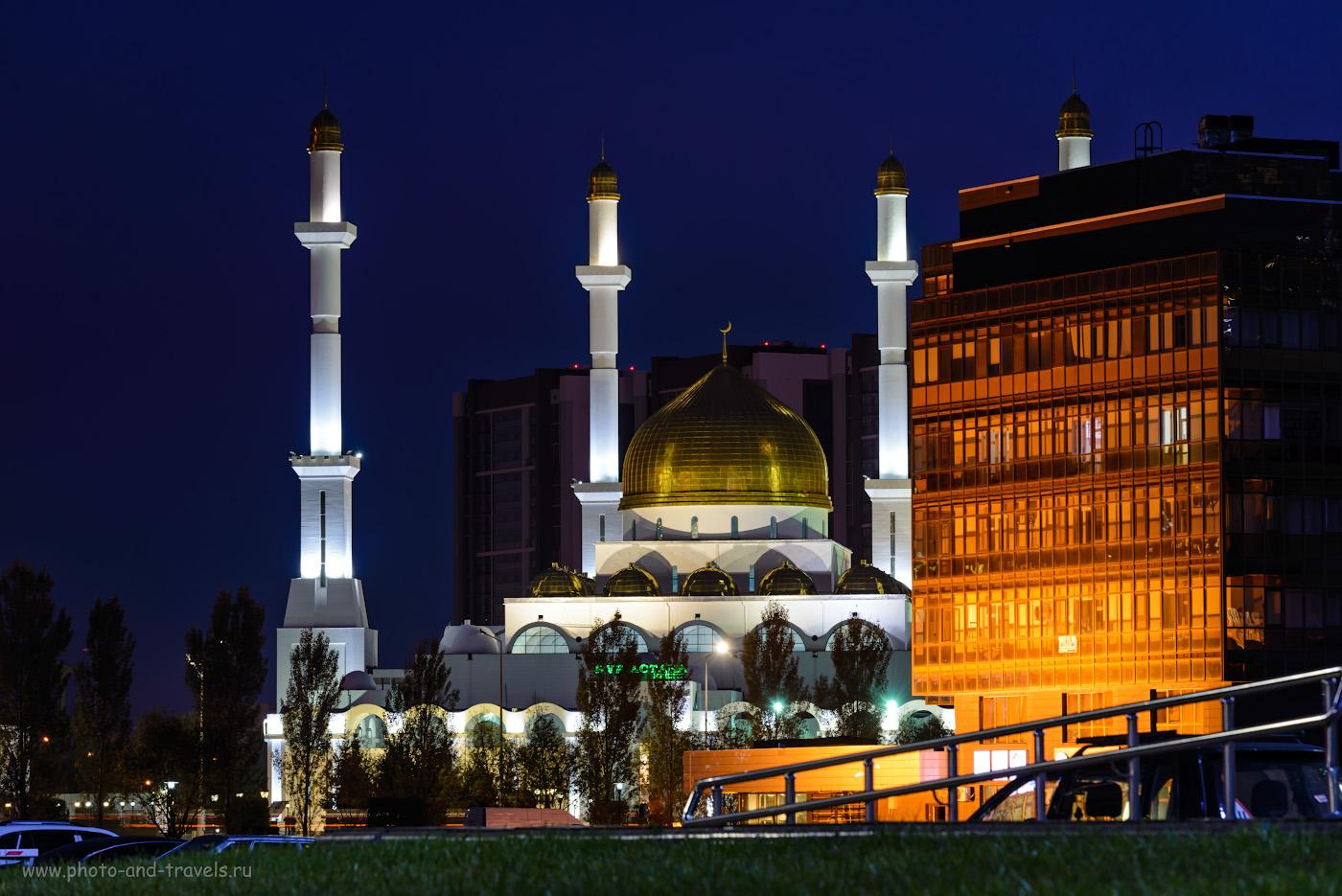 Фото 16. Мечеть Нур-Астана до постройки мечети Хазрет-Султан была самой большой в Центральной Азии. Какие достопримечательности посмотреть в столице Казахстана за день. 3.0, +0.67, 9.0, 100, 150.