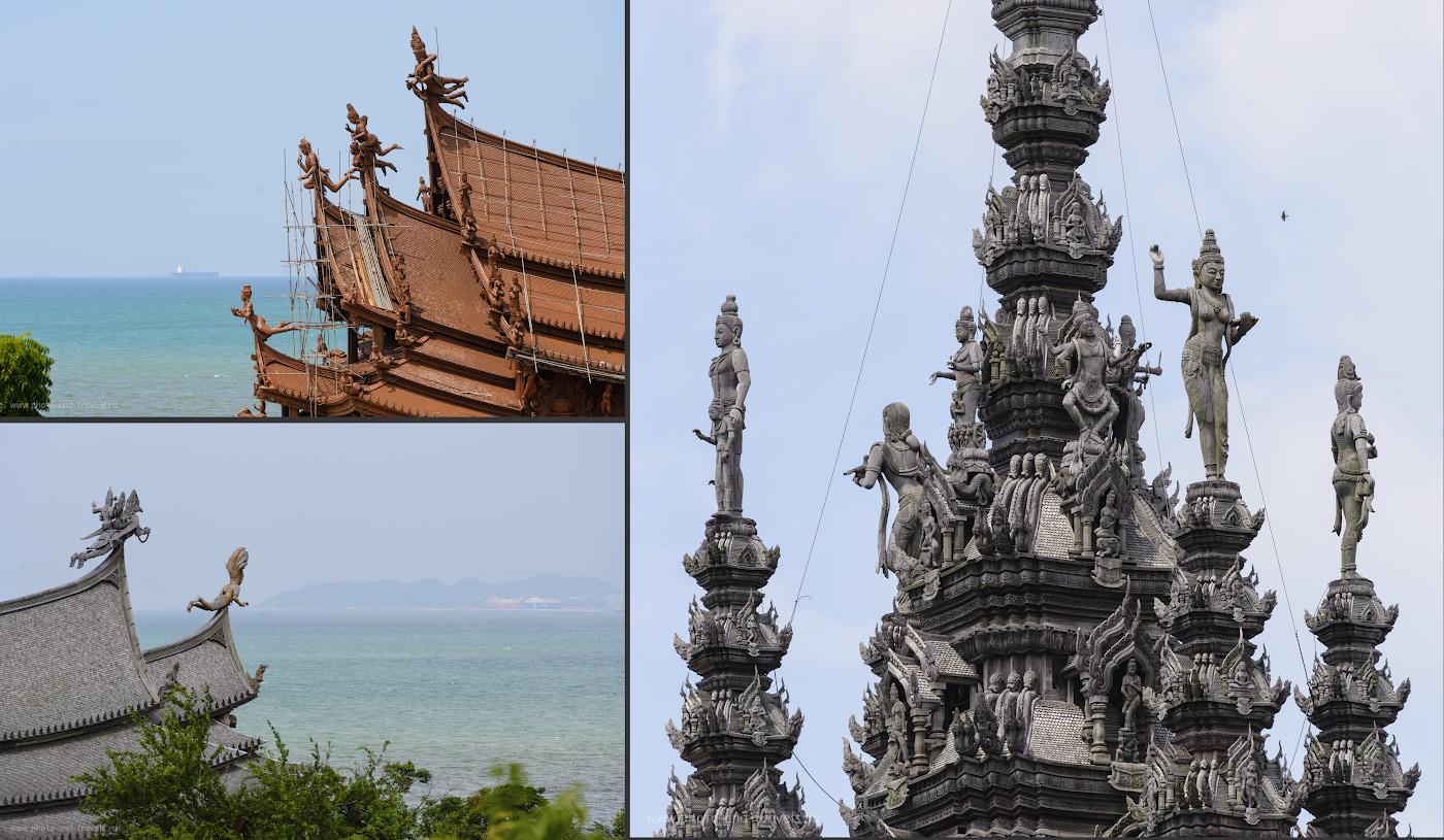 Фотография 11. Храм Истины строят уже 37 лет. Одна из причин долгостроя – он состоит из тысяч искусно вырезанных деревянных скульптур.