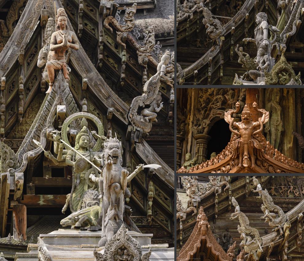 Фото 17. Вот, где раздолье для любителей резьбы по дереву. Храм Истины в Паттайе.