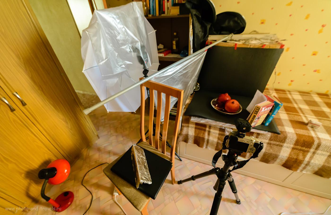 Фотография 12. Подсветка теней при помощи подручных средств. Фотографируем с беззеркалкой Сони А6000 КИТ 16-50/3.5-5.6 и с внешней вспышкой. 1/15, 5.6, 6400, 14.