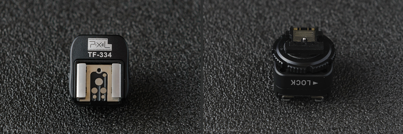 Фото 1. Переходник для вспышки Nikon и Canon на Sony. Модель Pixel TF-334. Снято на полный кадр Nikon D610 KIT 24-70mm f/2.8 с внешней вспышкой Yongnuo YN-685N с белым зонтом на отражение. Управление от радиосинхронизатора Yongnuo YN-622N-TX.