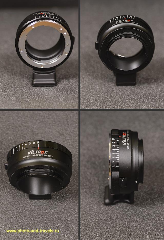 Фото 3. Неавтофокусный адаптер Viltrox NF-NEX для беззеркалок Sony A6000, A6300, A6500, а также Sony NEX и полнокадровых Sony A7, Sony A7R и других.