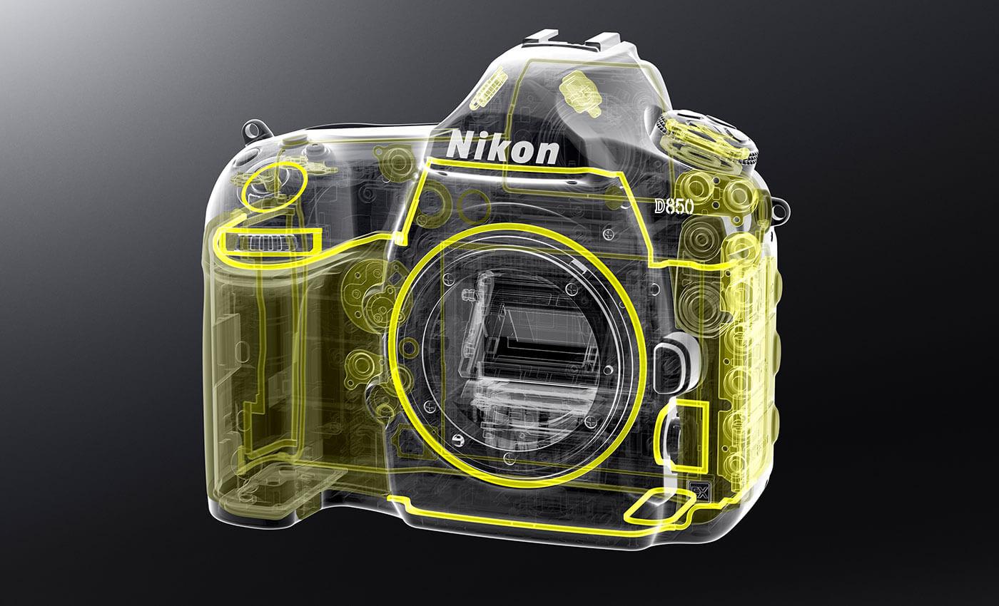Схема защиты от влаги и пыли в камере Nikon D850.