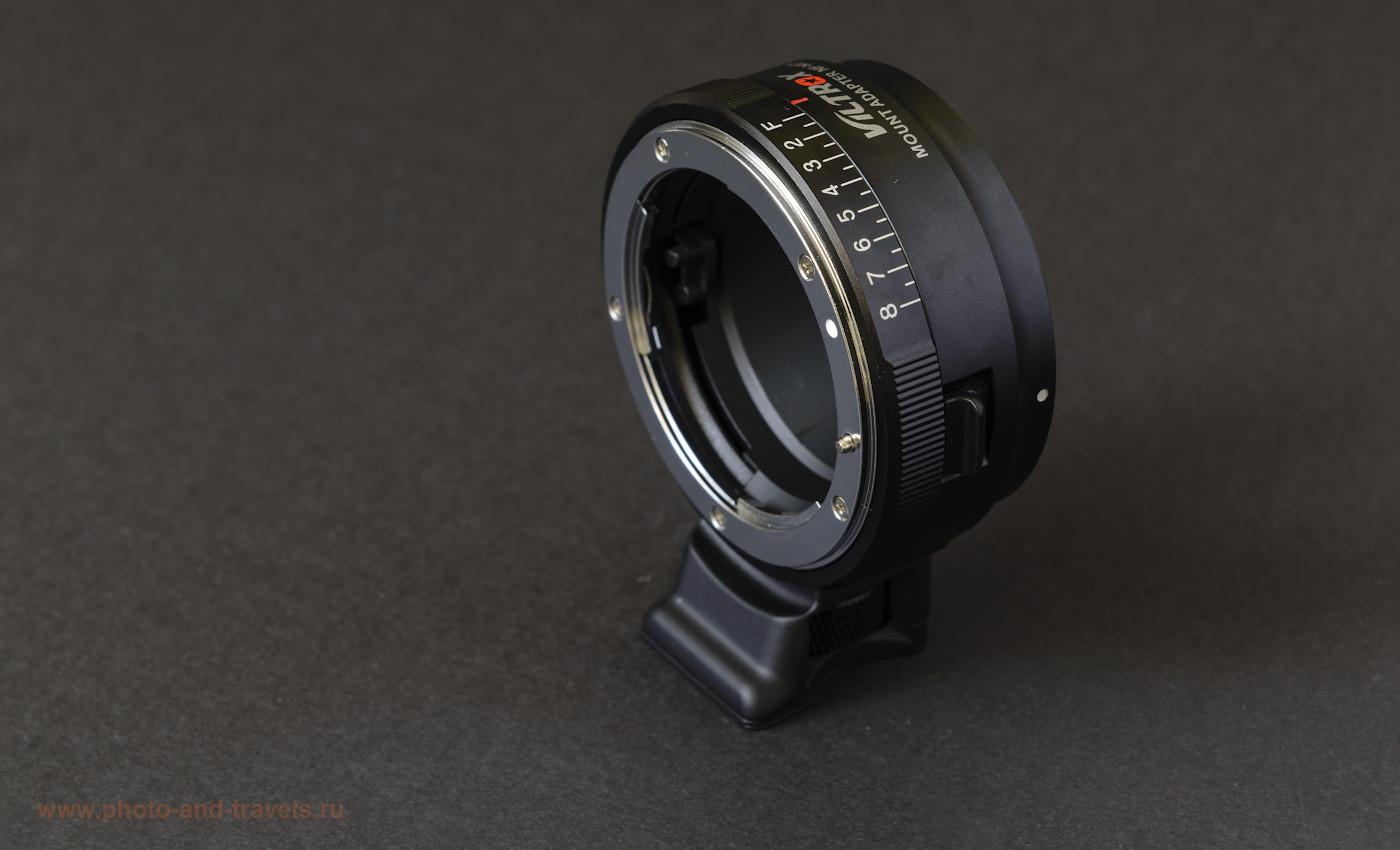 Фото 19. Мануальный переходник Viltrox NF-NEX с байонета «Nikon F» на байонет «Sony E» стоит 50 USD. Примерно такой же скоро появится, как альтернатива Nikon FTZ.