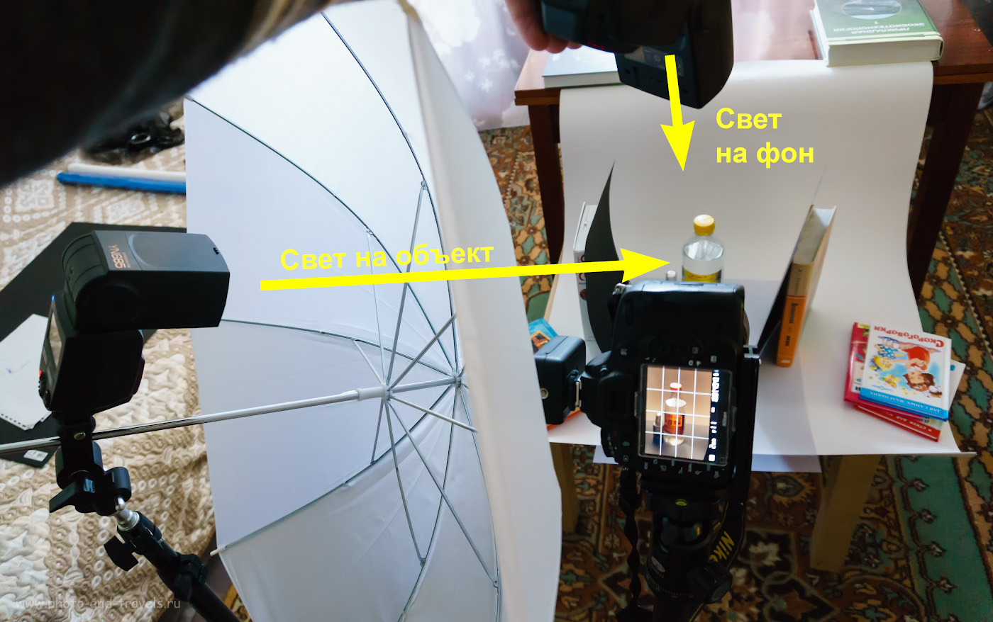 Фото 5. Как я ставил свет для съемки стеклянной бутылки с бензином «Галоша» для размачивания резинок объектива Nikon. Снято на беззеркалку Sony A6000 KIT 16-50mm f/3.5-5.6. Настройки: 1/60, +2.0 EV, 3200, 16.