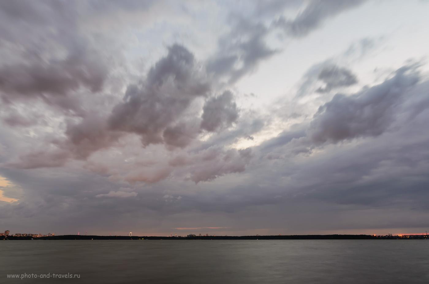 Фото 9. Как ширик рисует вечернее небо. Отзывы фотолюбителей об использовании широкоугольного объектива Samyang 14 mm/2.8 на кропе Nikon D5100. Настройки: 10, 10, 100, 14.