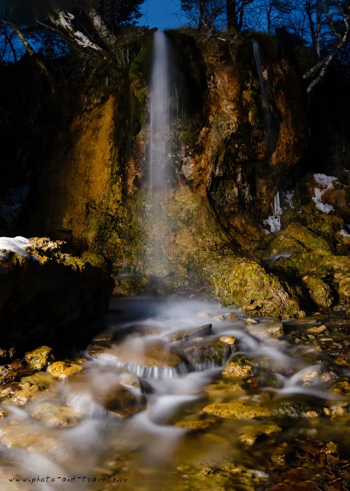 Фотография 6. Водопад Плакун в окрестностях деревни Сасыково. Съемка на зеркалку Nikon D610 и широкоугольный объектив Samyang 14mm f/2.8 со штативом Sirui T-2204X с головкой Sirui G20KX.