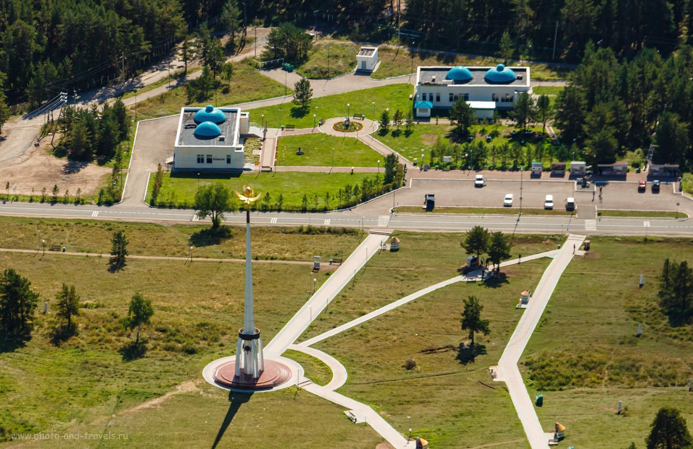 """Снимок 28. Поляна Абылай-хана с горы Кокшетау. Достопримечательности курорта """"Бурабай"""" на Северном Казахстане. 1/125, +0.3, 8, 200, 35."""