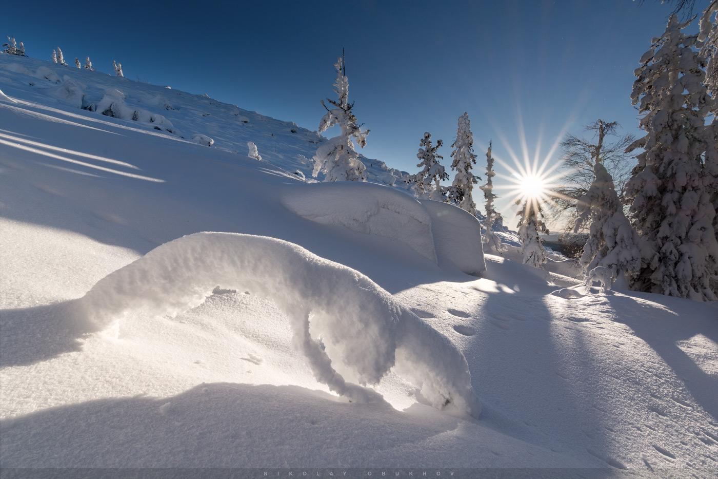 Фотография 14. «По следу». Обзор ширика Tokina 11-16mm f/2.8 DX II. Тестирование на тушке Nikon D7100. Настройки: 11.0 mm, ISO 100, f/16.0, 1/125 s, 0 EV.