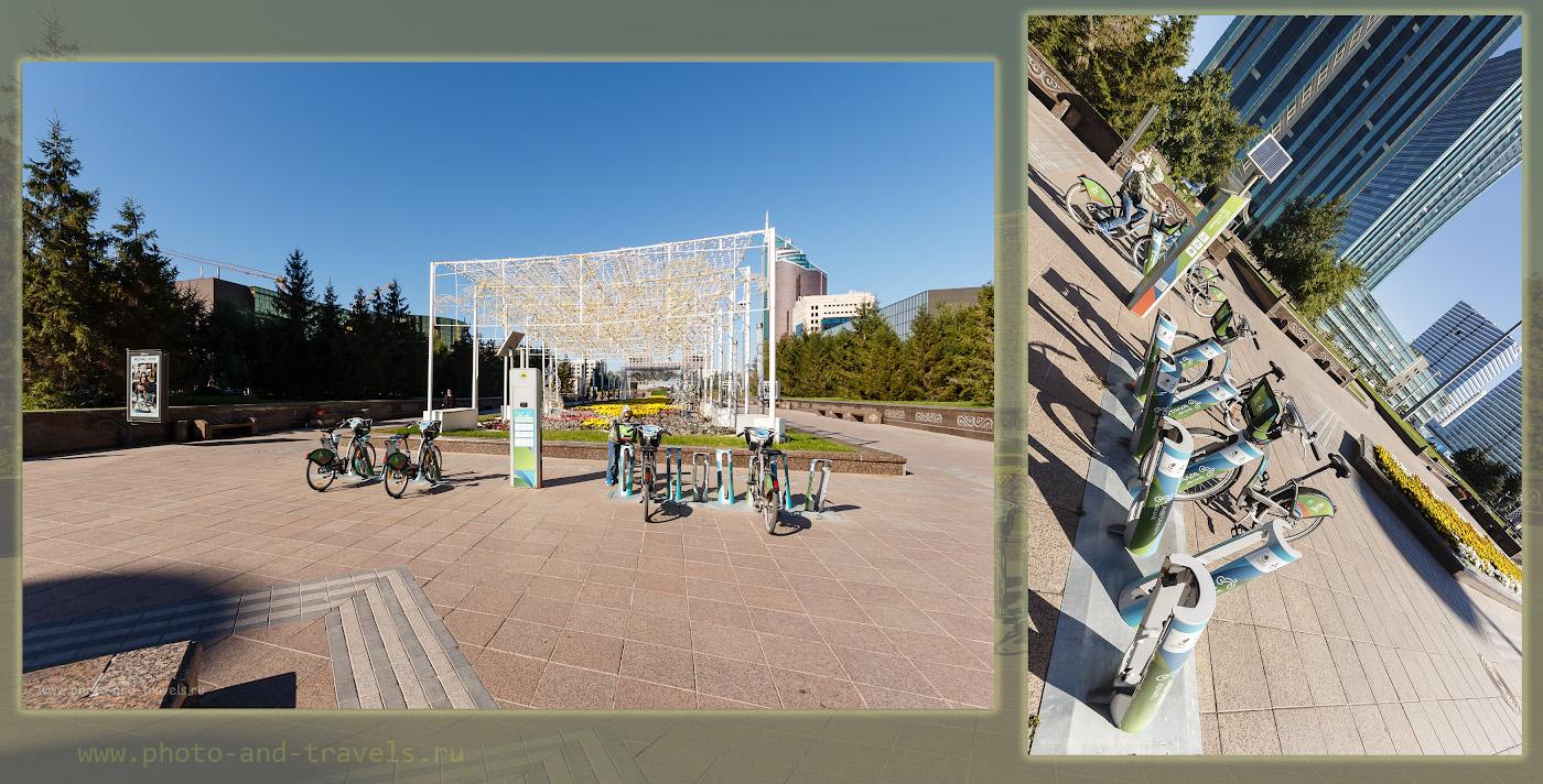 Фото 10. Станции велопроката «Astana bike» на бульваре Нуржол. Объектив Sigma 10-20mm F4-5.6 EX DC.