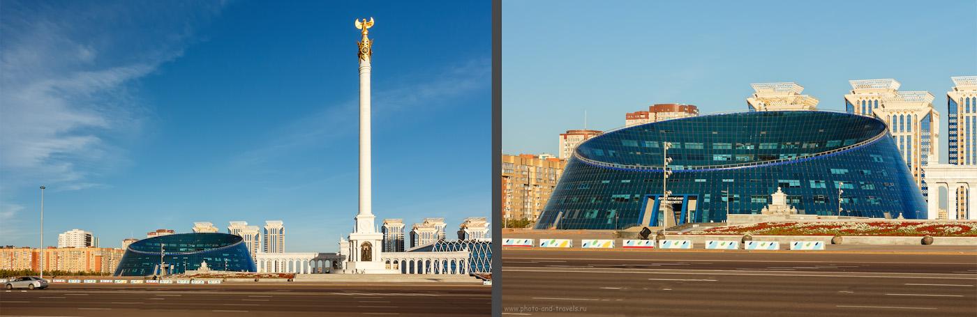 Фотография 21. Площадь Независимости, монумент «Казак Ели», здание КазНУИ (Казахский национальный университет искусств) в Астане. Отзывы о прогулке по столице Казахстана.