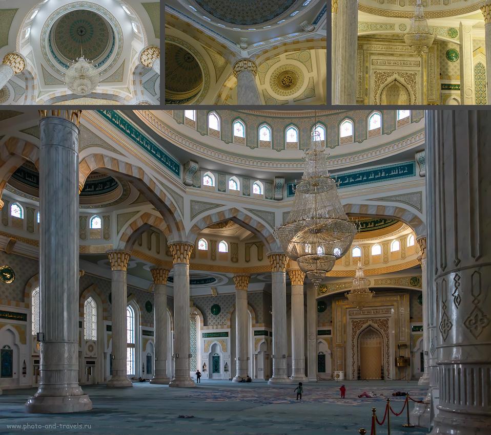Фото 25. Интерьер «Хазрет Султан», одной из самых больших мечетей Центральной Азии. Какие интересные места можно увидеть в Астане.