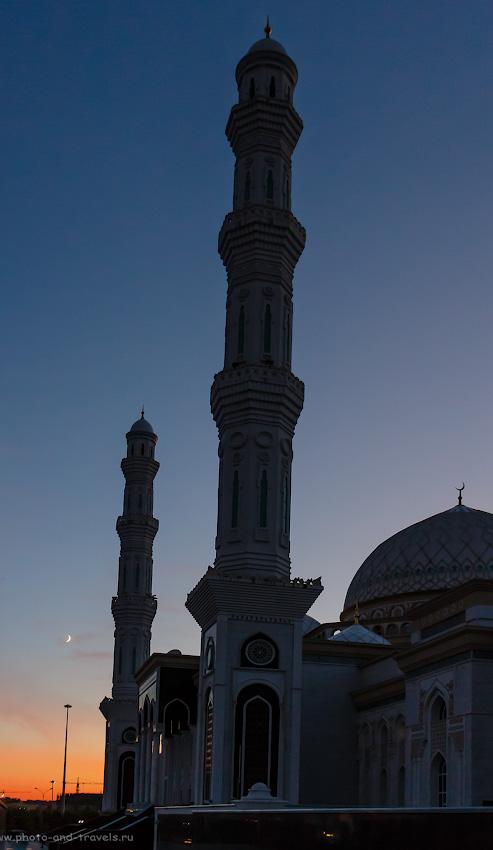 Снимок 29. Мечеть «Хазрет Султан» на закате. Красоты Астаны. 1/80, -0.3, 3.5, 800, 22.