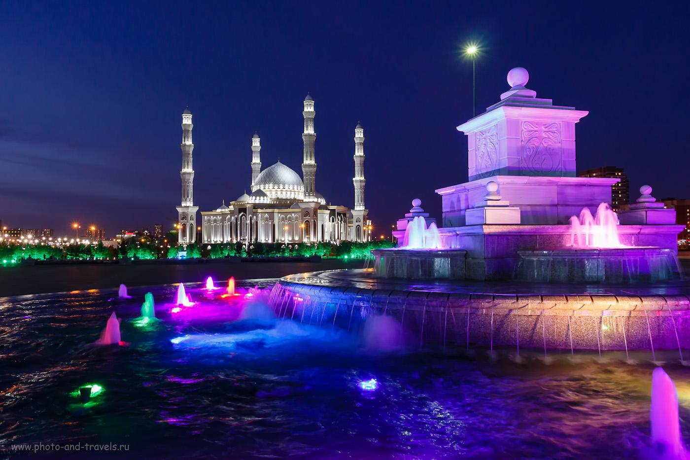 Фотография 32. Вечернее преображение мечети «Хазрет Султан».