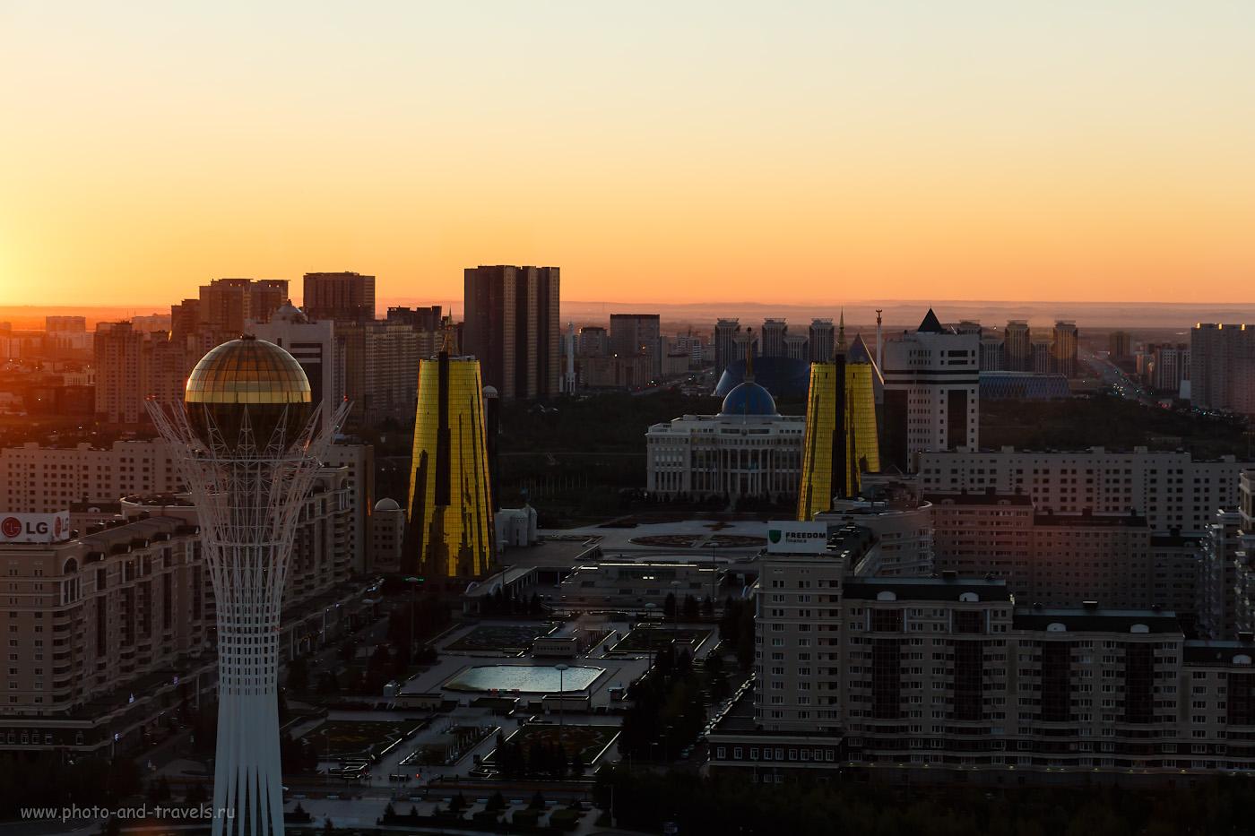 Фото 38. Восход солнца в Астане. Фото из окна апартаментов в ЖК «Северное сияние». 1/40, +0.3, 8, 200, 59.