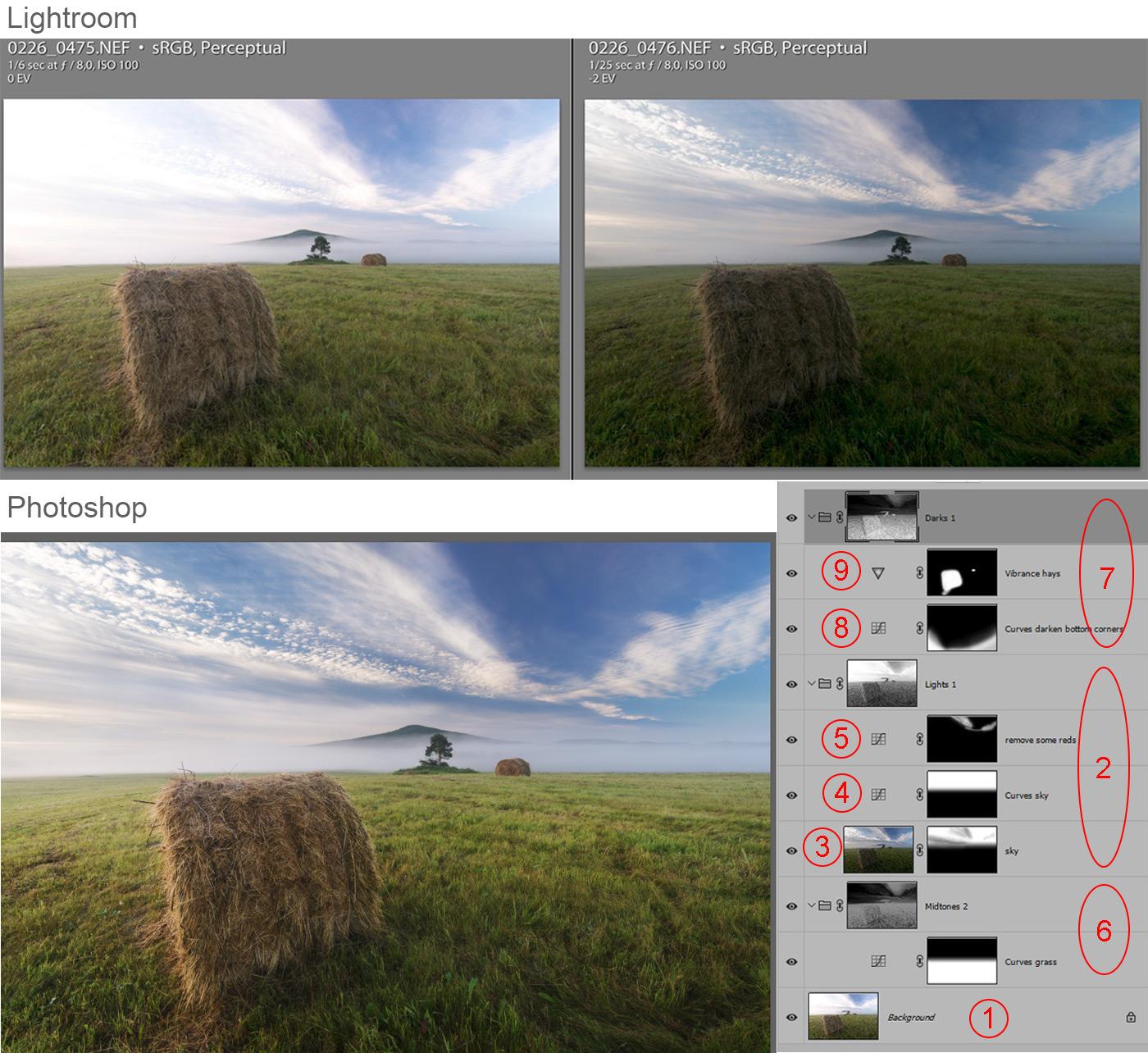 Фотография 20. Скриншоты из Lightroom и Photoshop. Как я обрабатываю снимки с Tokina 11-16mm f/2.8 DX II.
