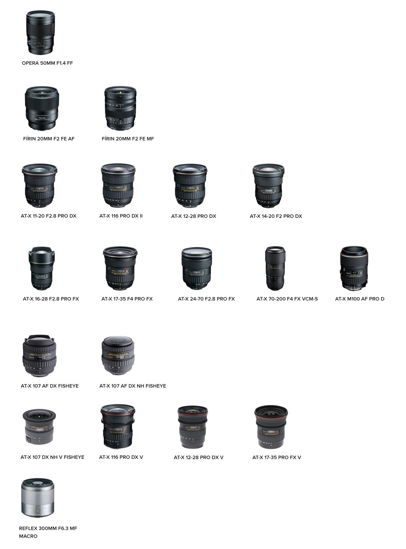 Фото 23. Обзор модельного ряда объективов Tokina.