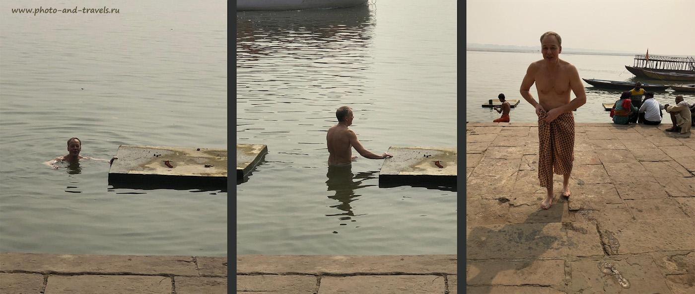 Фотография 2. Насколько опасно умереть от антисанитарии в Индии. Как я купался в Ганге в городе Варанаси.