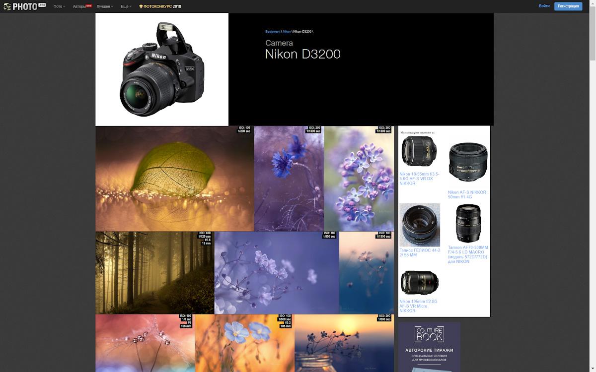 Примеры профессиональных фото на Nikon D3200.