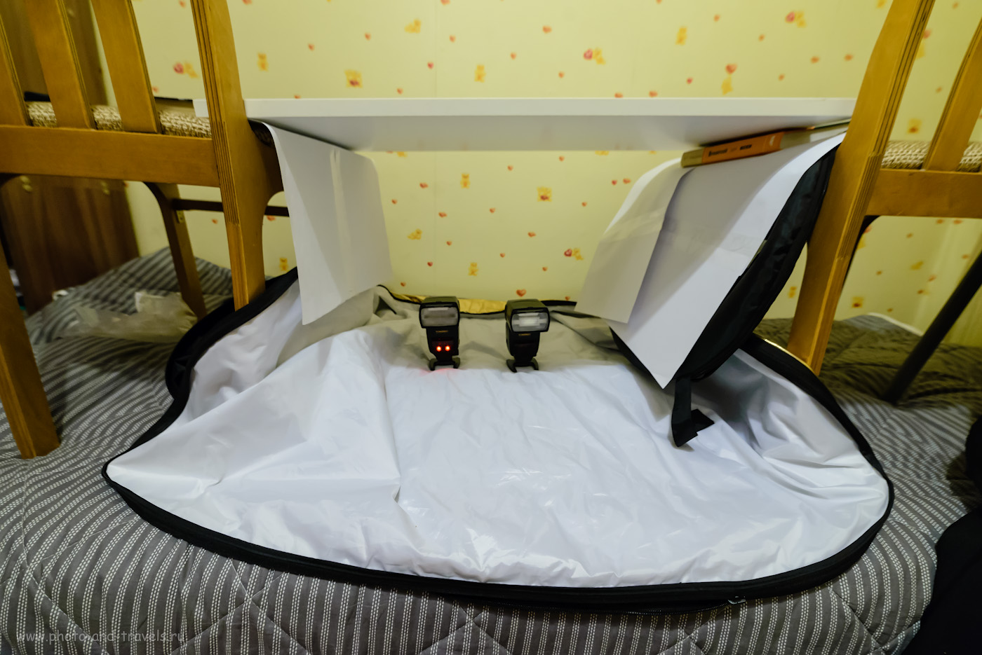 Фотография 6. Как сделать софтбокс для съемки в домашних условиях. На фото – две внешних вспышки Yongnuo YN-685N. Снято на фуллфреймовую зеркалку Nikon D610 и ширик Samyang 14mm f/2.8 при свете от энергосберегающих ламп, без вспышек. Настройки: 1/30, 5.6, 2800, 14.