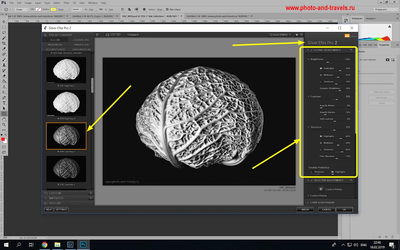 Фотография 12. Как перевести цветное фото в черно-белое при помощи плагина «Silver Efex Pro».