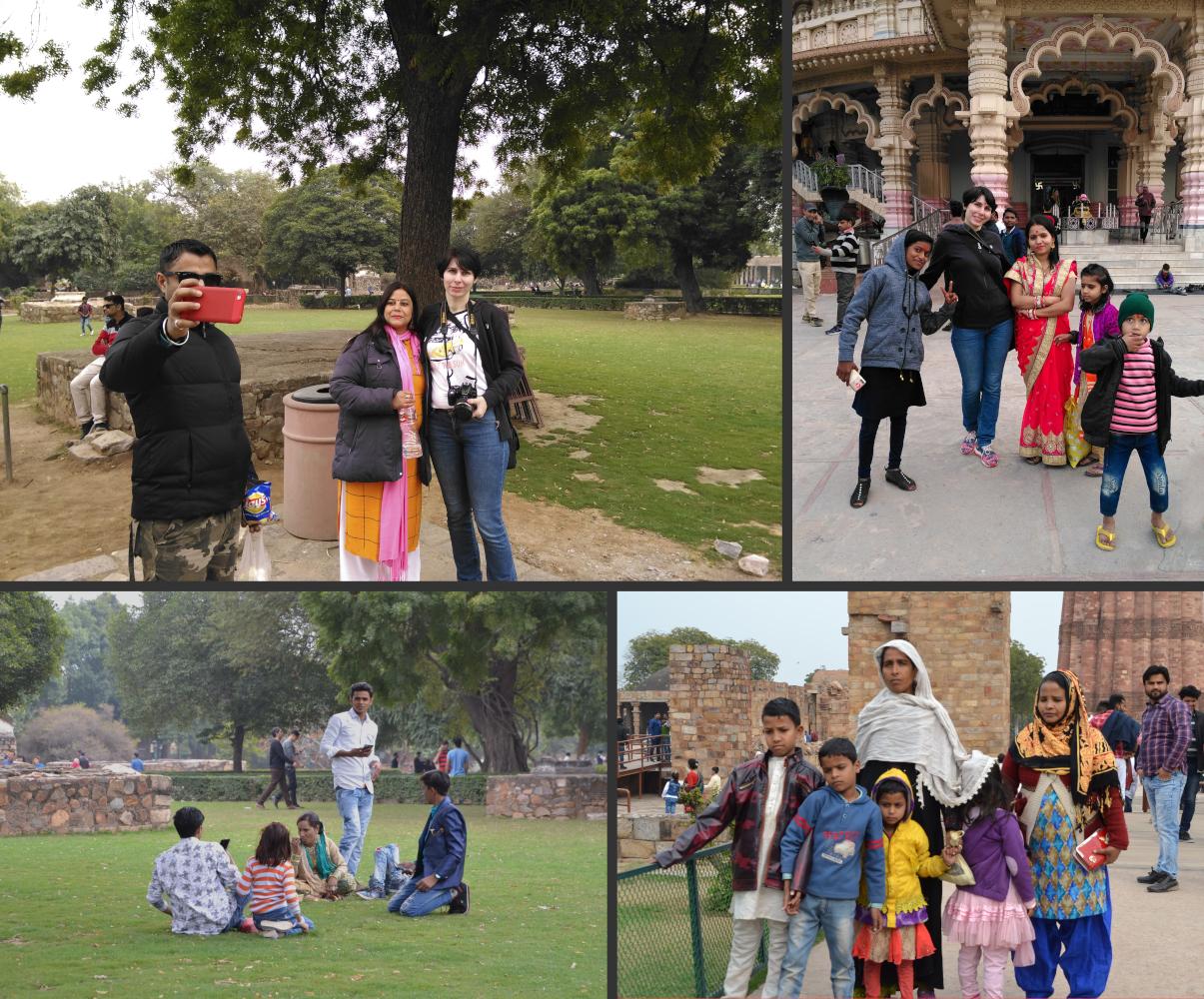 Фото 13. Пестрая компания и я. Что ждет вас на экскурсии в Дели. Снято на смартфон.
