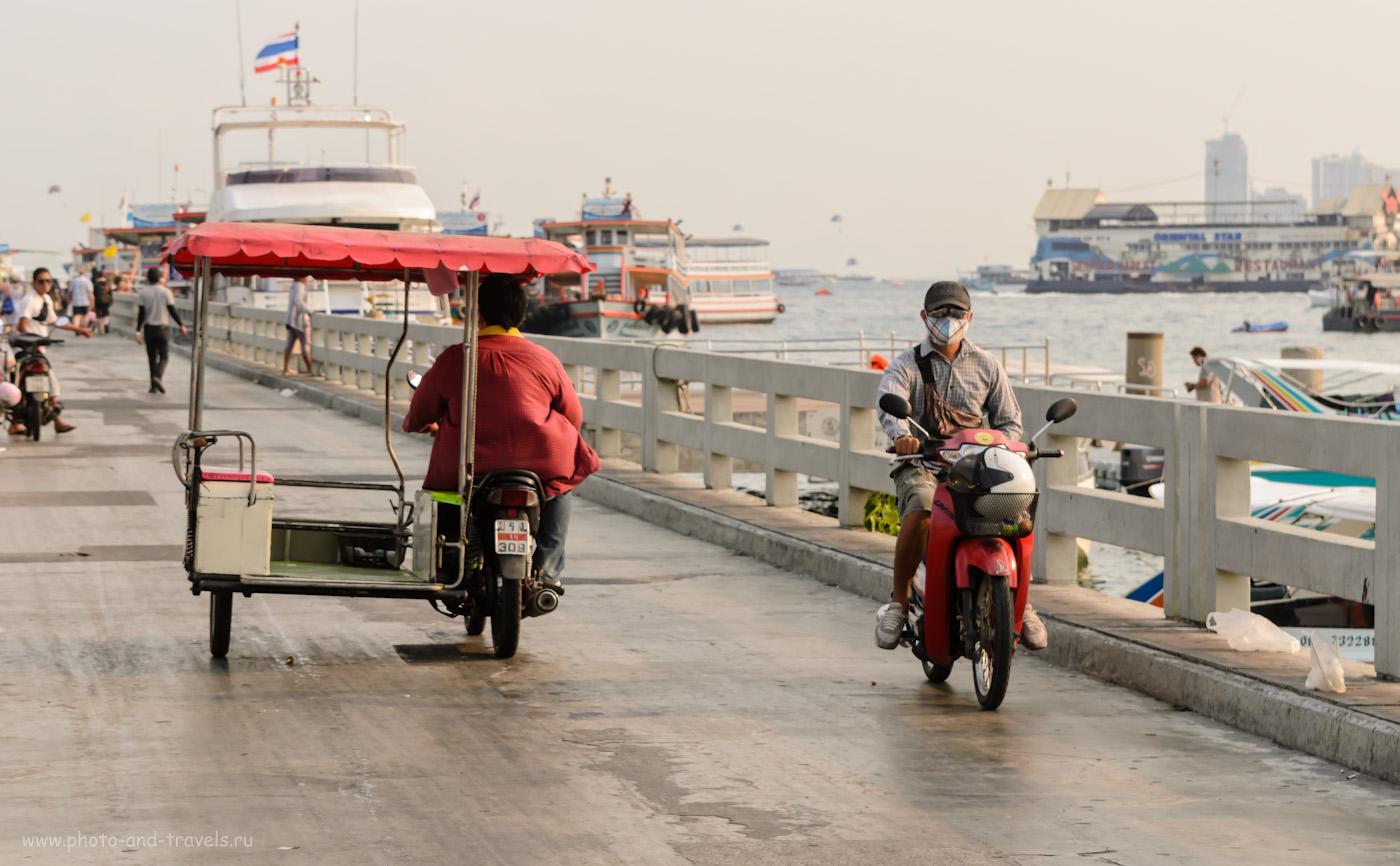 6. Причал Bali Hai в курорте Паттайя. Отзывы туристов из России об отдыхе в Таиланде. 1/500 секунды, А, f/7.1, ФР=70 мм, ISO 250.