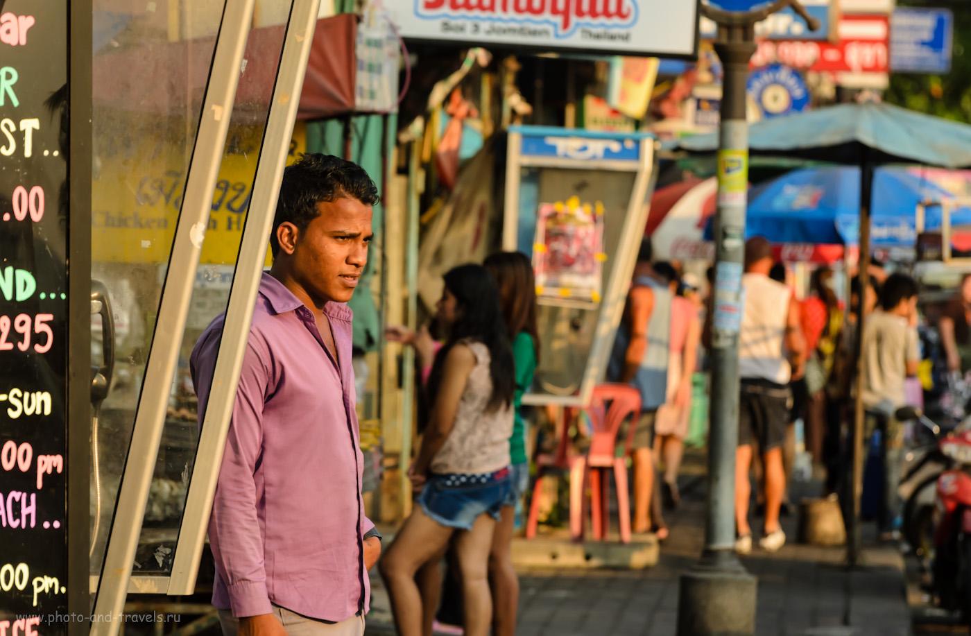 Отдых на пляже Джомтьен-Бич в Паттайе. Отзывы туристов о поездке в Таиланд. Портрет, снятый на телеобъектив Nikon 70-300. 1/500 сек, f/4.8, 140 мм, 400