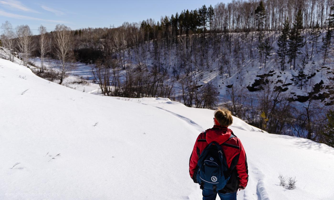 Фото 13. Долина реки Багаряк рядом с устьем реки Межовка, где расположен Ольгин водопад. 1/2000, 2.8, 100, 24.