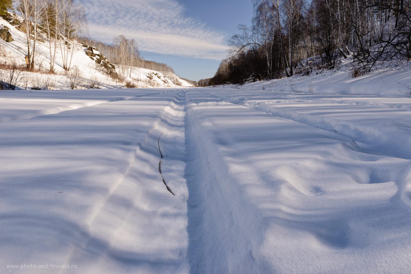 Фото 14. Вид на долину реки Багаряк в обратную сторону от села Зотино и, соответственно, от Зотинской пещеры. 1/50, 14.0, 140, 24.