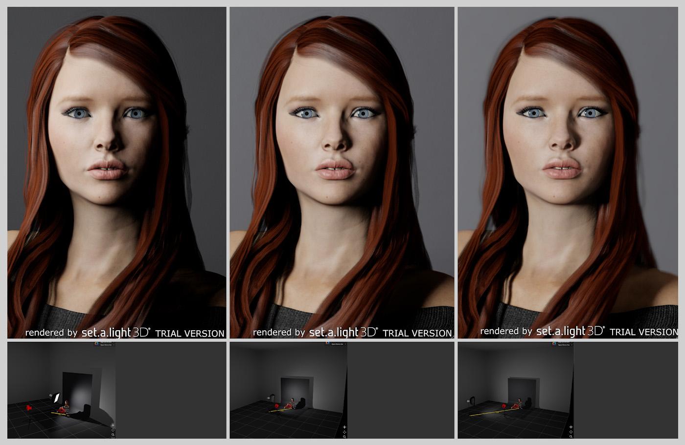 Фотография 23. Сравнение портретов, снятых с освещением от софтбокса, размещенном на разных расстояниях. Уроки по работе со вспышками Godox.