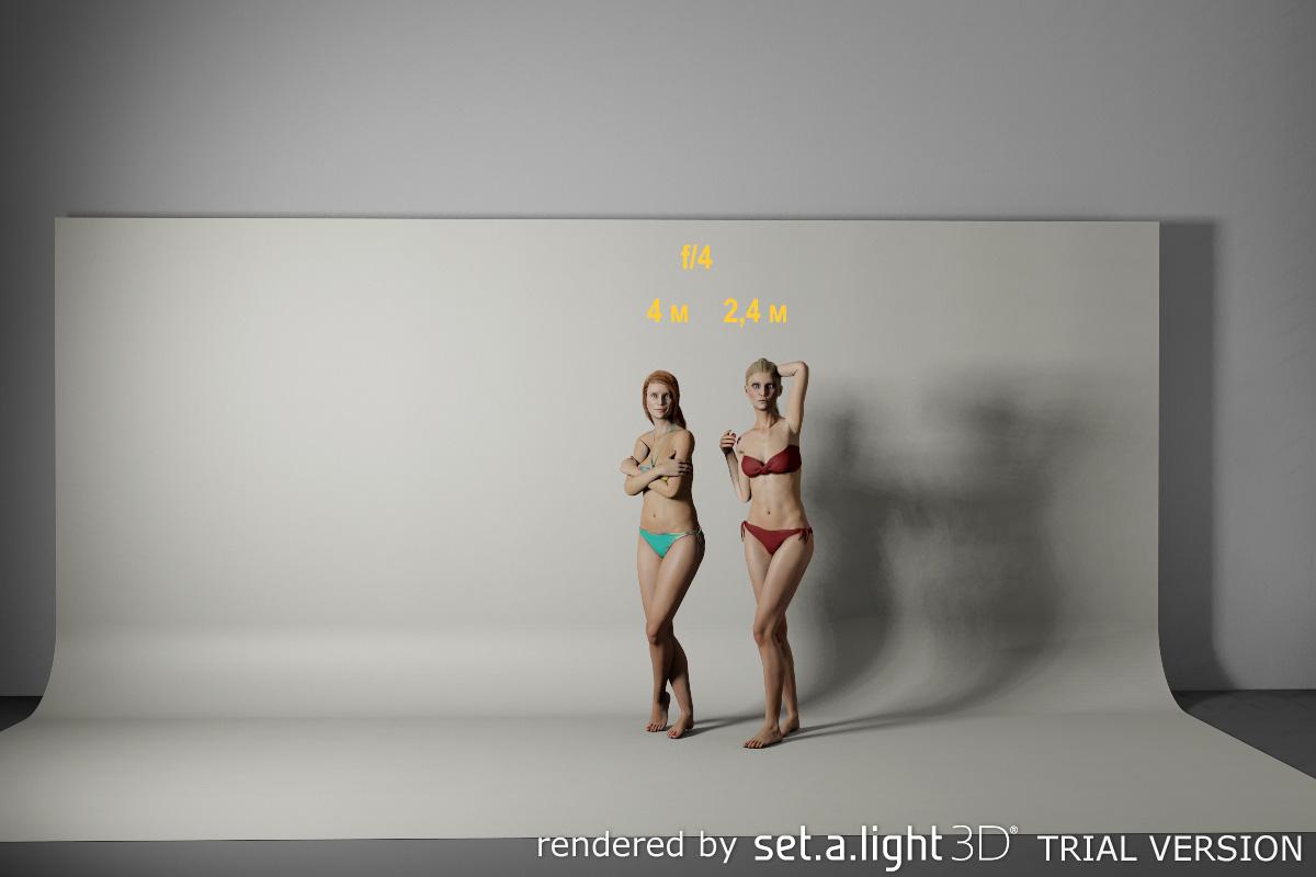 Фото 26. Как расстояние до софтбокса со вспышкой влияет на освещенность двух фотомоделей. Основы работы с Godox.