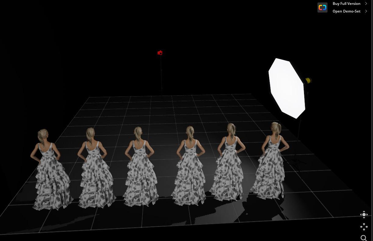 18. Расстановки моделей на одинаковом расстоянии, чтобы продемонстрировать действие закона обратных квадратов в фотографии. Это - схема, симулятор фото - на следующем рисунке. Урок фотографии для владельцев вспышек Godox.