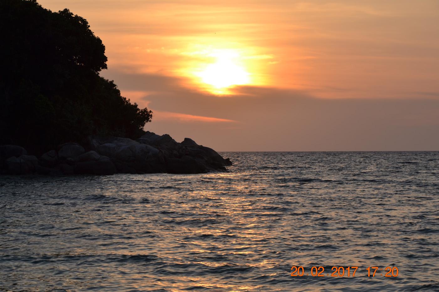 Фотография 14. Закат на пляже Сансет-бич острова Ко Липе в Таиланде. Стоит ли ехать сюда на отдых? 1/200, 10.0, 100, 85.