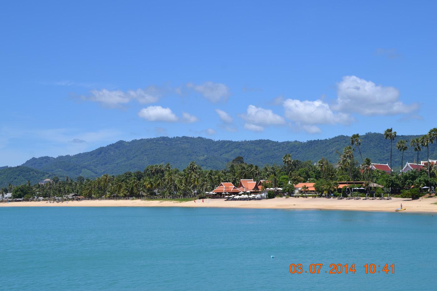 Фотография 3. Вид на пляж Маенам (Maenam Beach) на острове Самуи (Koh Samui). Отчеты о самостоятельном отдыхе в Таиланде. 1/320, 9.0, 100, 42.