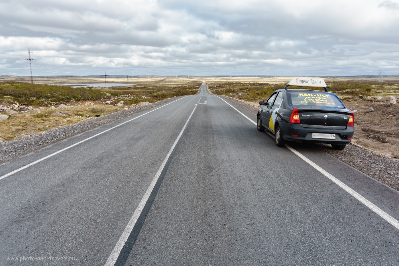 Фотография 5. Как добраться до Териберки из Мурманска? Дорого, но быстро – на такси. Дорога к Баренцеву морю на Кольском полуострове.