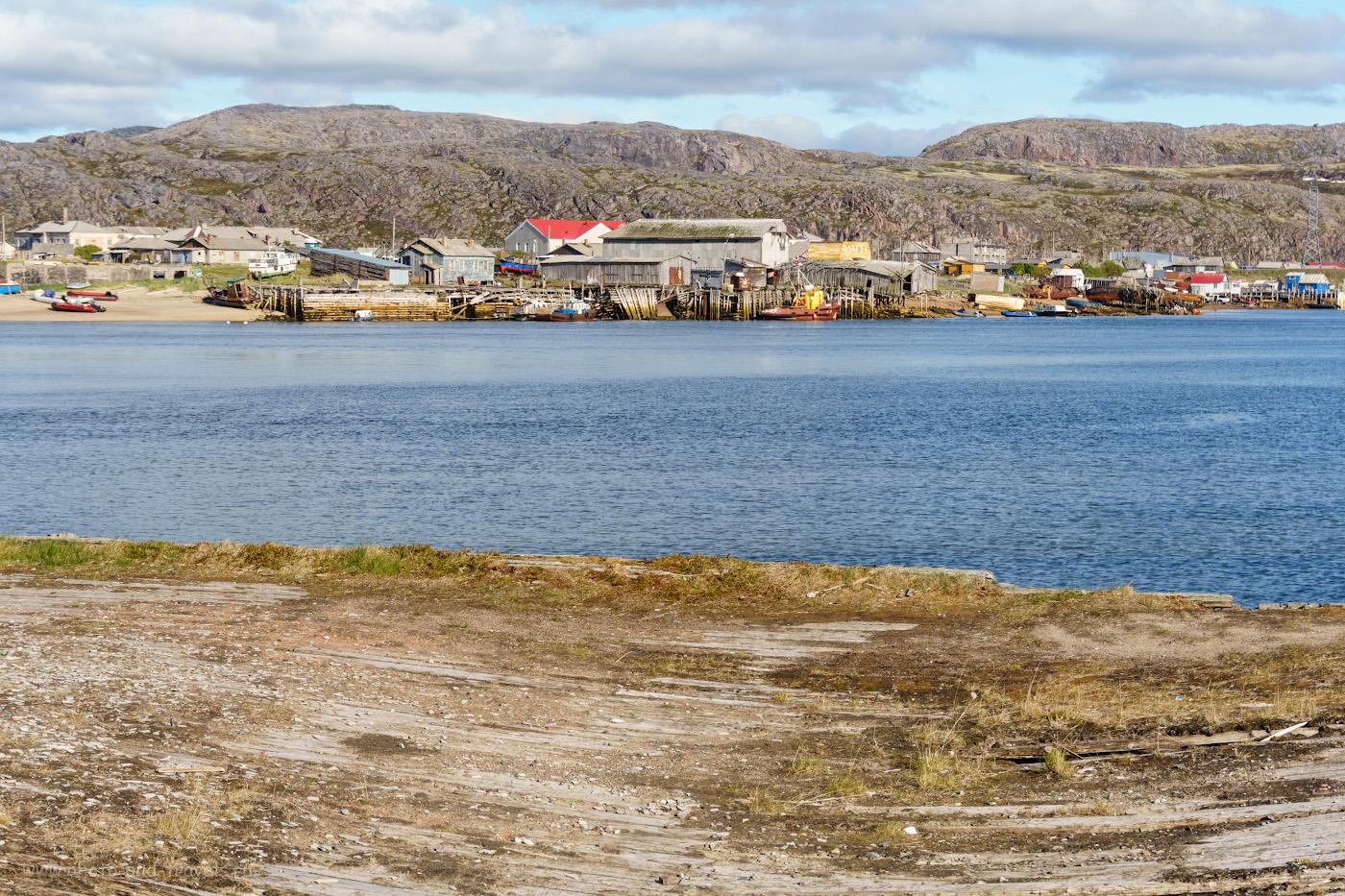 Фотография 10. Поселок Старая Териберка. Вид с кладбища кораблей.