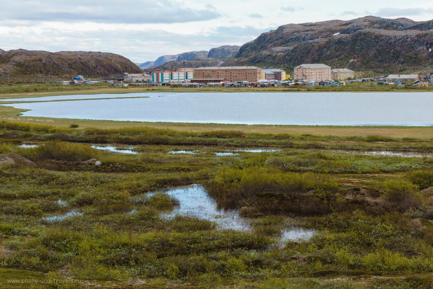 Фотография 12. Вид на село Лодейное с северного берега озера Капшуковое.