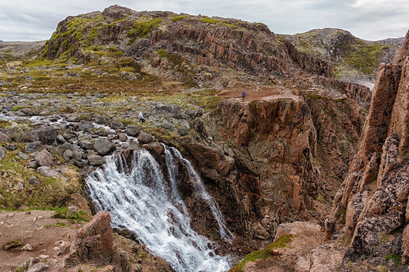 Фотография 38. Вид на Териберский водопад. Моя поездка из Мурманска в Териберку.